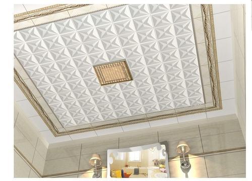 现代简约厨房铝扣板天花-现代简约风铝扣板吊顶效果图