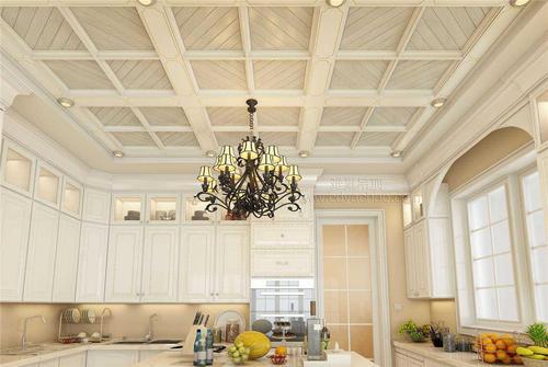 欧式厨房集成吊顶效果图-带铝扣板一级吊顶效果图来参赛