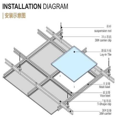 张家口铝扣板吊顶-中央空调铝扣板吊顶一般吊多高呢