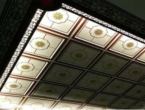 集成吊顶效果图顶-中式铝扣板吊顶效果图