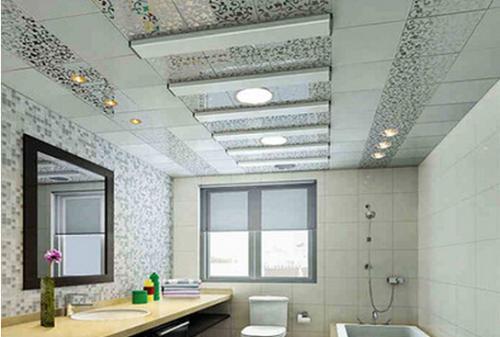 造型卫生间集成吊顶-卫生间铝扣板吊顶怎么装呢