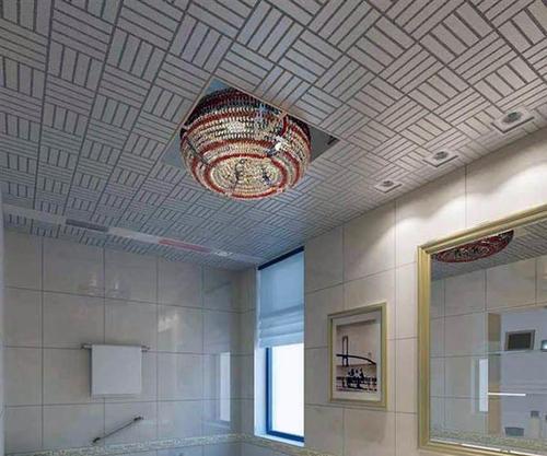 卫生间吊顶铝扣板安装-卫生间铝扣板吊顶能安滑轨吗-卫生间集成吊顶铝扣板自装
