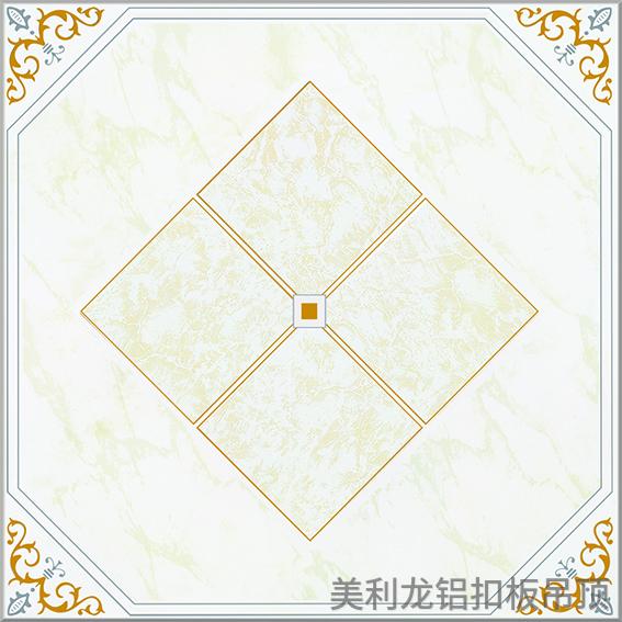 金石银线彩涂走廊通道铝扣板