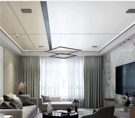 客厅铝天花吊顶效果图大合集,多种风格不同材料供你挑选!