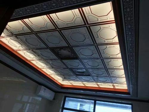 欧式风格铝扣板吊顶图片-简欧式铝扣板吊顶效果图好看吗