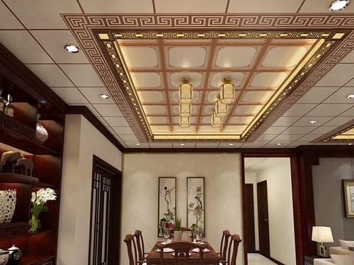 中式大厅集成吊顶-新中式餐厅吊顶常见原材料