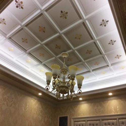 铝扣板客厅二级吊顶图-带铝扣板一级吊顶效果图来参赛