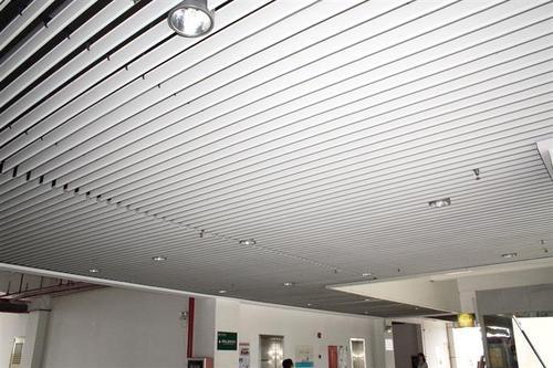 铝扣板吊顶大厅效果图-客厅铝扣板吊顶厂家带你看