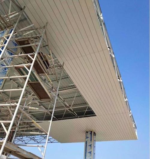 建筑外墙铝扣板-铝单板和铝扣板就差一个字