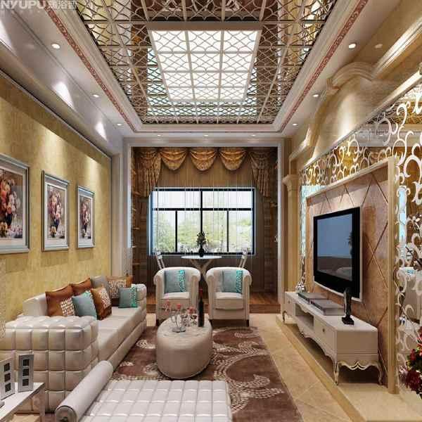 铝扣板吊顶效果图餐厅-客厅铝扣板吊顶厂家一一给你们介绍
