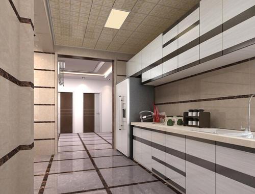铝扣板餐厅吊顶效果图-新品时尚铝蜂窝组合铝扣板效果图