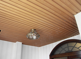 生态木集成吊顶-阳台吊顶用生态木还是铝扣板吊顶