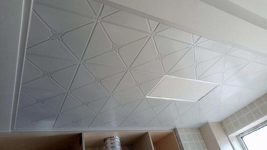 张家港集成吊顶铝扣板-现代简约风铝扣板吊顶效果图