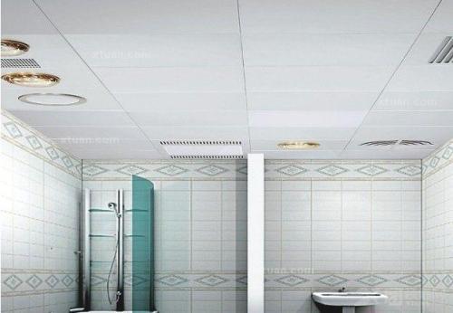 铝扣板吊顶卫生间效果图-铝扣板吊顶效果图好吗