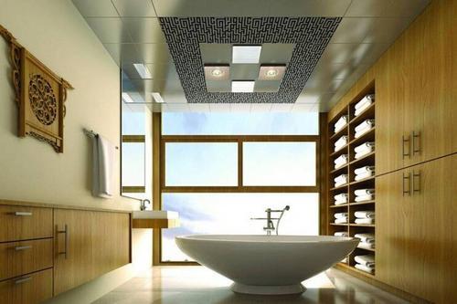 中式风格铝扣板吊顶-客厅铝扣板吊顶风格
