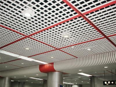 铝格栅铝扣板-格栅铝天花和铁格栅吊顶