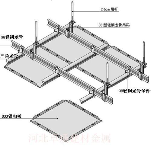 铝扣板吊顶过程图-机房铝扣板厂家带图教你机房吊顶天花怎么选