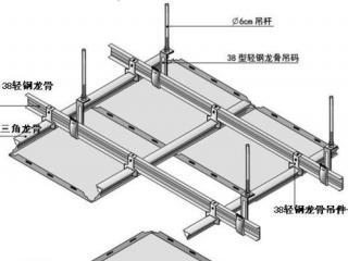 全吊铝扣板吊顶图-简约铝扣板吊顶效果图